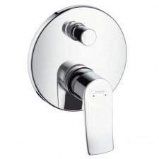 Hansgrohe Metris Jednouchwytowa bateria prysznicowo-wannowa, montaż podtynkowy, element zewnętrzny chrom - 405409_O1