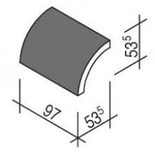 Villeroy & Boch Pro Architectura Pool System dekor wałek 5,35x10 cm gres matowy czarny - 519600_T1
