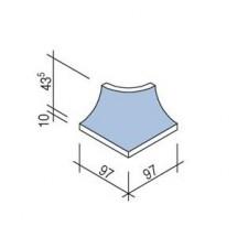 Villeroy & Boch Pro Architectura Pool System narożnik zewnętrzny 10x10 cm gres matowy jasny aquamarine - 519655_T1