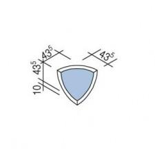 Villeroy & Boch Pro Architectura Pool System narożnik wewnętrzny 4,35x4,35 cm gres matowy jasny aquamarine - 519675_T1