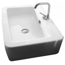 Kerasan Ego umywalka wisząca z otworem na baterię 60 x 43 biała - 464134_O1