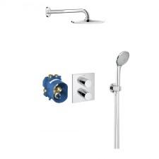 Grohe Grohtherm 3000 Cosmopolitan zestaw prysznicowy podtynkowy termostat deszczownica chrom - 448416_O1