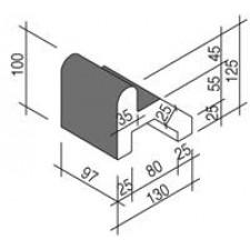 Villeroy & Boch Pro Architectura Pool System rant 13x10 cm gres matowy czarny - 519713_T1