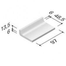 Villeroy & Boch Pro Architectura dekor przypodłogowy 5x10 cm terakota matowy biały - 172342_O1