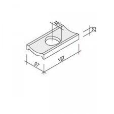 Villeroy & Boch Pro Architectura Pool System fragment kanału 10x20 cm gres matowy biały - 519685_O1