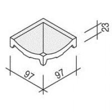 Villeroy & Boch Pro Architectura Pool System narożnik wewnętrzny 10x10 cm gres matowy biały - 519511_O1