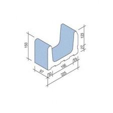 Villeroy & Boch Pro Architectura Pool System fragment kanału 23x10 cm gres matowy jasny aquamarine - 519753_O1