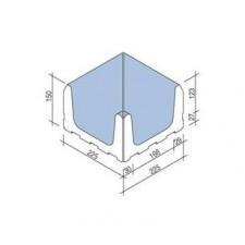 Villeroy & Boch Pro Architectura Pool System narożnik wewnętrzny 23x23 cm gres matowy jasny aquamarine - 519627_T1