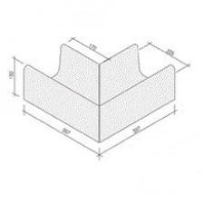 Villeroy & Boch Pro Architectura Pool System narożnik zewnętrzny 40x40 cm gres matowy biały - 519465_O1