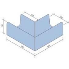 Villeroy & Boch Pro Architectura Pool System narożnik zewnętrzny 40x40 cm gres matowy jasny aquamarine - 519618_T1