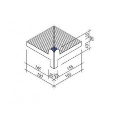 Villeroy & Boch Pro Architectura Pool System narożnik wewnętrzny 18x18 cm gres matowy ciemny niebieski - 519664_T1