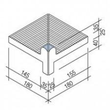 Villeroy & Boch Pro Architectura Pool System narożnik wewnętrzny 18x18 cm gres matowy jasny aquamarine - 519579_T1