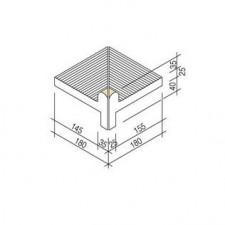 Villeroy & Boch Pro Architectura Pool System narożnik wewnętrzny 18x18 cm gres matowy jasny topaz - 519631_T1