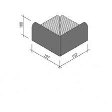 Villeroy & Boch Pro Architectura Pool System narożnik zewnętrzny 20x20 cm gres matowy czarny - 519638_T1