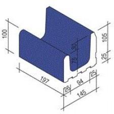 Villeroy & Boch Pro Architectura Pool System fragment kanału 15x20 cm gres matowy ciemny niebieski - 519527_O1