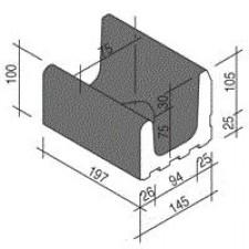 Villeroy & Boch Pro Architectura Pool System fragment kanału 15x20 cm gres matowy czarny - 519540_O1