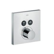 Axor ShowerSelect bateria termostatyczna Square do 2 odbiorników, montaż podtynkowy,element zewnętrzny - 614541_O1