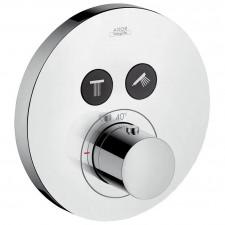 Axor ShowerSelect bateria termostatyczna Round do 2 odbiorników, montaż podtynkowy, element zewnętrzny chrom - 614548_O1