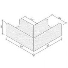 Villeroy & Boch Pro Architectura Pool System narożnik zewnętrzny 40x40 cm gres matowy biały - 519492_O1