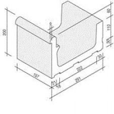 Villeroy & Boch Pro Architectura Pool System fragment kanału 30x20 cm gres matowy biały - 519694_O1