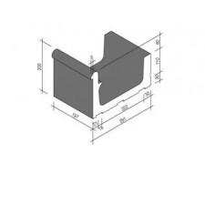 Villeroy & Boch Pro Architectura Pool System fragment kanału 30x20 cm gres matowy czarny - 519651_T1