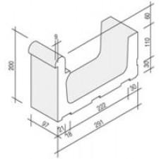 Villeroy & Boch Pro Architectura Pool System fragment kanału 30x10 cm gres matowy biały - 519623_T1