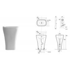 Kerasan Aquatech umywalka stojąca 60x40 biała - 469152_O1