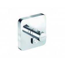Kludi Push podtynkowa bateria natryskowa (kwadrat), przycisk 1 źródło wody, z termosttem - 682399_O1