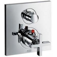 Axor Citterio bateria termostatyczna podtynkowa z zaworem odcinającym, z uchwytem krzyżowym, element zewnętrzny - 3308_O1