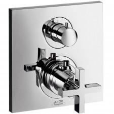 Axor Citerrio bateria termostatyczna podtynkowa z zaworem odcinająco-przełączającym, z uchwytem krzyżowym, element zewnętrzny - 3314_O1