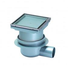 Kessel System 100 Wpust łazienkowy Classic z pokrywą do przyklejania płytek 110x110 mm stalowy - 460233_O1