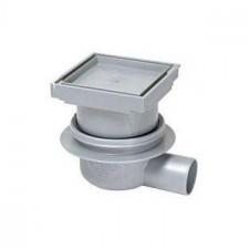 Kessel System 100 Wpust łazienkowy Classic z pokrywą do przyklejania płytek 110x110 tworzywo - 390104_O2