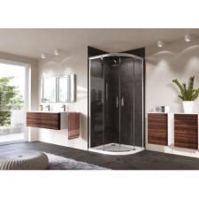 Huppe Aura elegance Kabina prysznicowa półokrągła drzwi suwane 90x90 Srebrny mat - 465415_O1