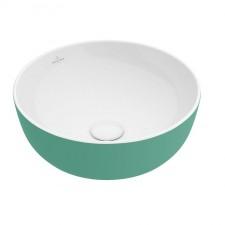 Villeroy & Boch Artis Umywalka stojąca na blacie 43 cm okrągła, bez miejsca na armaturę, bez przelewu - 688013_O1