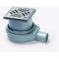 Kessel System 125 Wpust łazienkowy Der Ultraflache z kratką ze wzorem szelinowym 120x120 mm ze stali nierdzewnejO1