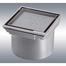 Kessel System 125 Nasada z ASB z pokrywą do wklejania płytki 110x110 cm z ramą ze stali nierdzewnej - 390031_O1