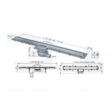 Kessel Linearis Super 60 ruszt odpływu liniowego z ABS, z pokrywą i ramą ze stali nierdzewnej - 469408_O1