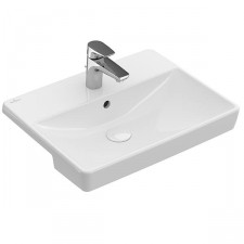 Villeroy & Boch Avento Umywalka do wbudowania z przodu blatu 55 cm 1/otw. możliwe 3/otw. z przelewem - 770203_O1