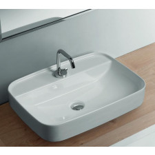 Kerasan Tribeca umywalka nablatowa 60x43 biała matt - 766200_O1