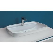 Kerasan Tribeca umywalka nablatowa / wpuszczana w blat 60x43 biała matt - 766350_O1