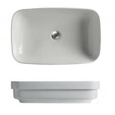 Kerasan Tribeca umywalka nablatowa / wpuszczana w blat 60x38 biała matt - 766069_O1