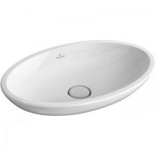 Villeroy & Boch Loop & Friends umywalka stojaca na blacie, 585 x 380 mm, bez przelewu, Weiss Alpin Ceramicplus - 357241_O1