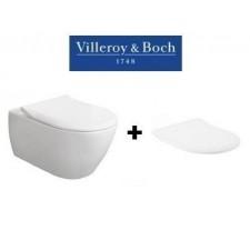 Villeroy & Boch Subway 2.0 zestaw miska WC wisząca z deską wolnoopadającą Slimseat (56001001 + 9M78S101)O1