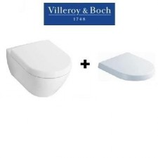 Villeroy & Boch Subway 2.0 zestaw miska WC wisząca bezrantowa DirectFlush 56 cm z deską wolnoopadającą (5614R001+9M68S101)O1