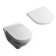 Villeroy & Boch O.Novo Zestaw miska WC wisząca Weiss Alpin 360x560 mm z deską wolnoopadającą ( 56601001 +9M38S101) - 425774_O1