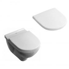 Villeroy & Boch O.Novo Combi-Pack model podwieszany, DirectFlush, deska sedesowa z zawiasami quick-release i softclosing, odpływ poziomy - 575425_O1