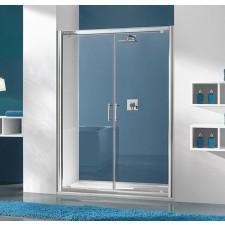 Sanplast drzwi dwu-skrzydłowe DD/TX5b-100-S srebrny bł. W15 - 631376_O1
