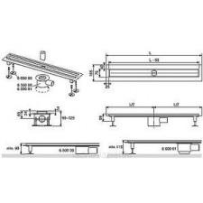 Tece Drainline rynny odpływowe proste z kołnierzem i taśmą uszczelniająca Seal System 700 mm - 406956_O1