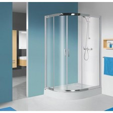 Sanplast kabina natryskowa kpl-P-KP4/TX5b-80x100-S biały W0 - 632011_O1