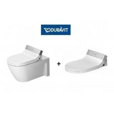Duravit Sensowash Zestaw Starck 2 miska wisząca WC + deska z funkcją mycia (610001002004300+2533590000)O1